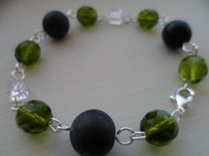 """Original """"Czech Mate"""" hand wired bracelet by tcupcreations on Etsy, $20.00"""
