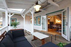 Hawaii Homes, California Style, Backyard Patio, Backyard Ideas, Sunroom, Entrance, Porch, Deck, Home And Garden