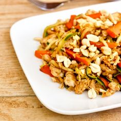 Healthy Low-Carb Chicken Pad Thai from Healthy Helper