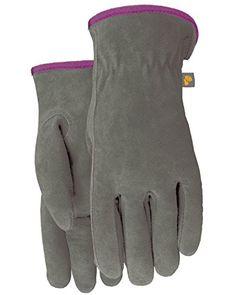 Midwest Gloves & Gear Suede Cowhide Leather Palm w/ Marigold wrist, Gray/Marigold Mitten Gloves, Mittens, Organic Gardening Magazine, Cold Weather Gloves, Any Job, Gardening Gloves, Marigold, Leather Gloves, Types Of Fashion Styles