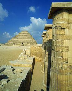 The Step Pyramid of the pharaoh Zoser, at Saqqara (Sakkara), UNESCO World Heritage Site, Egypt, North Africa.