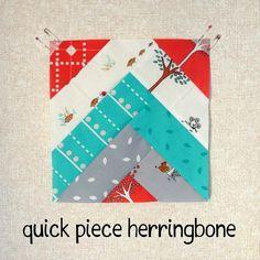 Quick Piece Herringbone Tutorial by SewBlossomHeart, via Flickr