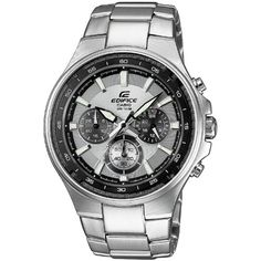 Men's Wrist Watches - Casio Edifice Mens Chronograph Stainless Steel Grey Dial Watch EF562D7AVEF * You can get more details by clicking on the image. (This is an Amazon affiliate link)