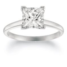 Promise Rings Simple | IGI Certified 1 Carat Princess CutShape 14K White Gold Solitaire Diamond Engagement Ring 4 Prong IJ Color VVS2VS1 Clarity center stones Center Stones -- Read more  at the image link. Note:It is Affiliate Link to Amazon.