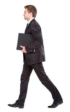cutout man walking