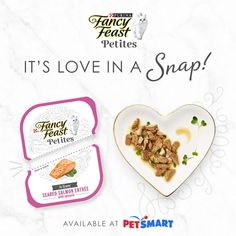 A fuss-free way to delight your feline, Fancy Feast Petites are crafted with real seafood or poultry. Whether nestled in gravy or prepared as a paté, every exquisite entrée delivers the taste and texture cats love. No mess or leftovers — just love in a snap! Fancy Feast Cat Food, Kitten Food, Gravy, Poultry, Entrees, Salmon, Seafood, Bbq, Treats