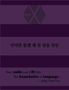 Exo poster cr: poster to me, lyrics to EXO