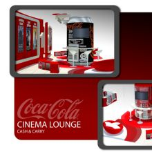 Retail solution design for a cinema lounge.