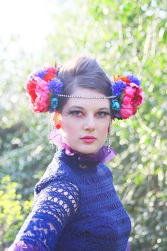Woodland Hippie Headpieces - The Floral Headbands From Bohemian Love Story are Strikingly Lovely (GALLERY)