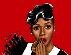 Janelle Monae in red by MissMediocre