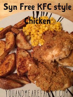 Syn Free KFC style Chicken ~ Slimming World - Slimming World Recipes Syn Free KFC Stil Huhn ~ Slimming World - Slimming World Rezepte Slimming World Tips, Slimming World Dinners, Slimming Eats, Slimming Recipes, Kfc Chicken Slimming World, Slimming World Airfryer Recipes, Fake Away Slimming World, Air Fryer Recipes Slimming World, Butter Chicken