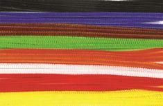 100 kusů barevných chlupatých drátků.  Rozměr: délka drátku 50 cm, průměr 8 mm. Flag, Science, Flags