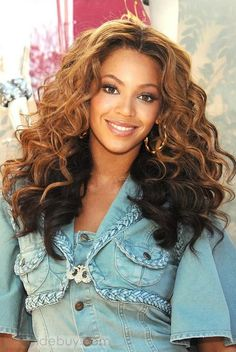 Beyonce Hairstyle Top Quality Clip in Hair about 22inches Wavy 100%Human Hair For Full Head : Tidebuy.com