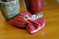 Knitted lace spa bag