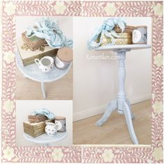 Pastel blue side table