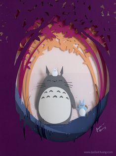 Papercut Totoro sur Pinterest