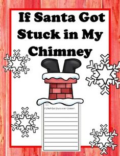 Perfect for Christmas Writing! Imagine if Santa got stuck in your chimney! Help students persuade, imagine, or teach voice writing! Included in Santa Writing:CoverTerms of UseSanta Coloring Page (Cut and place at top of Writing, or Christmas Writing Prompts, Teaching Writing, Teaching Ideas, Grammar Activities, Writing Activities, Classroom Activities, Holiday Activities, Reading Stations, Noel