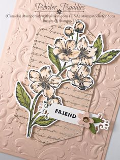 Parisian Blossoms Suite Hand Stamped Card Forever Blossom Stamp Set and Ornate Frames Dies by Stampin' Up! Paris Cards, Free Cards, 3d Cards, Paper Crafts Magazine, Hand Stamped Cards, Scrapbooking, Scrapbook Albums, Stampin Up Catalog, Stamping Up Cards