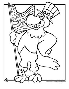 Patriotic Coloring Pages - American history for kids, US flags ...