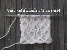 Knitting Videos, Knitting Stitches, Knitting Patterns, Tricot Entrelac, Honeycomb Stitch, Knitted Shawls, Diy Clothes, Lana, Stitch Patterns
