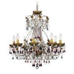 Schonbek The Rose Vintage 8 Light Chandelier with Crystal
