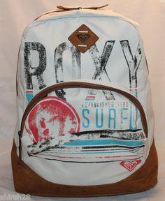 ROXY Backpack Fairness White Bag Surf