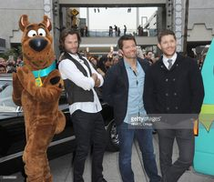 Scooby Doo, Jared Padalecki, Misha Collins and  Jensen Ackles attends The Paley Center For Media's 35th Annual PaleyFest Los Angeles - 'Supernatural'  held at Dolby Theatre on March 20, 2018 in Hollywood, California.  (Photo by Albert L. Ortega/Getty Images)