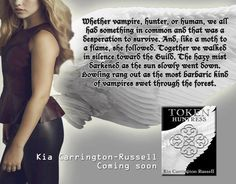 *****BLOGGERS, READERS, AUTHORS,PAs*****  We have an awesome book tour on Kias vampire book!!!  We need your help it's easy copy and paste provided!  Anyone can post it!  We are opening it up for reviews too!  Please read and go sign up in the fun!!  Don't forget let's see you at the release party as well. Don't forget the mega giveaways going on now before the tour!!!!  Hello I want to tell you about Kia Carrington Russells new Vampire book releasing on April 10th!!!  Omg it's so freaking…