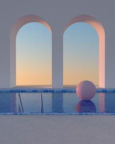 Travel Aesthetic, Blue Aesthetic, Aesthetic Photo, Aesthetic Pictures, Minimalist Architecture, Architecture Design, Ästhetisches Design, Usa Tumblr, Retro Futurism