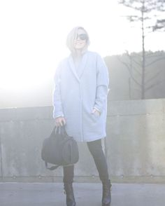 Light blue coat // IBEN // Alexander Wang // Michael Kors // Céline // Monique Lund