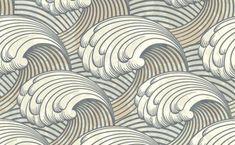 XOO Plate :: Vintage Art Nuveau Waves Pattern Background - Vintage style waves artwork seamless pattern background in EPS vector. Pattern Texture, Wave Pattern, Pattern Art, Pattern Design, Nature Pattern, Grey Pattern, Japanese Patterns, Japanese Design, Japanese Art