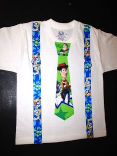 Toy Story Necktie Onesie or Shirt Perfect For by LittleBitsByJulie, $10.50