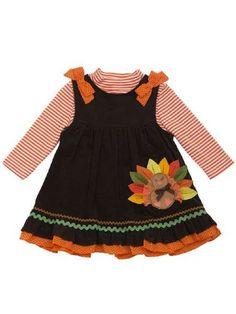Thanksgiving Dress Turkey Jumper 2014  3 Months to 4T at Cassie's Closet