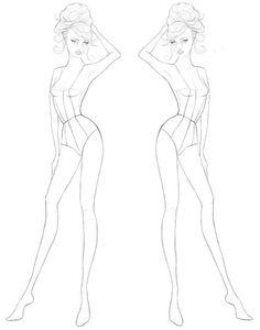 Картинки по запросу шаблоны эскизов фигур для дизайнеров