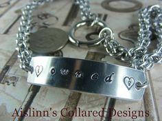 Handstamped Gorean Slave Collar JPL with an by aislinnscollared