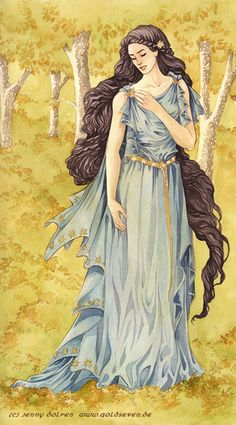 Beren and Lúthien diptych | Jenny Dolfen Illustration