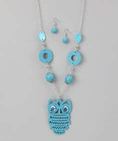 Take a look at this Blue Owl Necklace by Rated G on #zulily today!