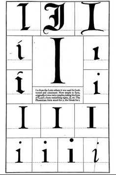 1942 Print Letter I Latin Capital Vowel Consonant Typography Frederic Goudy Calligraphy Alphabet, Calligraphy Fonts, Lettering Styles, Lettering Design, Letter J, Alphabet Letters, Illuminated Letters, Initials, Writing
