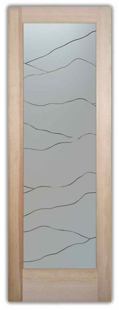 Glass Doors Interior Frosted Glass Door Etched Glass Line Pattern Hills