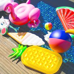 all kinds of pool toys or floaties i want for when my house is finnished being…