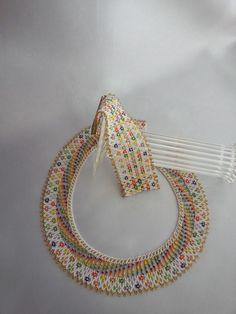 Seed Bead Necklace, Seed Bead Bracelets, Seed Bead Jewelry, Beaded Jewelry, Handmade Jewelry, Beaded Necklaces, Jewellery, Beaded Collar, Beaded Choker