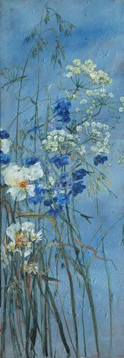 Claire Basler, a fantastic French painter, her work is big, colorful, and full of nature. I'm just mad for it.