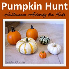 Pumpkin Hide & Seek. Easy Halloween activity for kids.