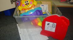 Manding Boxes (Objects, Labels w/sign language, data tracking sheet)