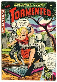.Tormented vintage horror comics