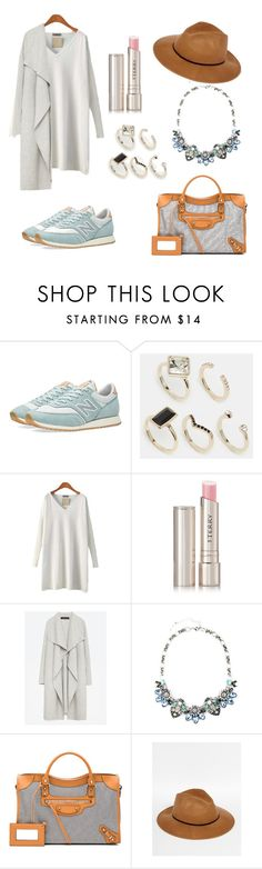 """""""white sportswear chic"""" by dodookn ❤ liked on Polyvore featuring New Balance, Oasis, By Terry, Zara, Balenciaga and Catarzi"""