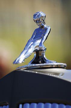 Packard Images by Jill Reger - Images of Packards -  1937 Packard Limousine Hood Ornament