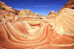 The Wave - escultura natural en piedra arenisca