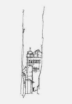 Skizze von Spleck Sketchbook Mode Textilien Kunst Source by idea creative Sketch Inspiration, Fashion Inspiration, Design Inspiration, Drawing Sketches, Art Drawings, Architecture Drawing Sketchbooks, Sketch Architecture, Desenho Pop Art, Urban Sketchers