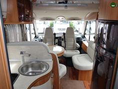 Hymer B678 - view towards the front